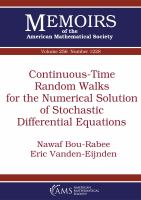 Continuous-time random walks for the numerical solution of stochastic differential equations /