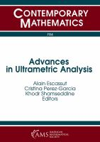 Advances in ultrametric analysis : 14th International Conference, p-adic functional analysis, June 30 - July 4, 2016, Universite d'Auvergne, Aurillac,