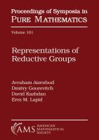 Representations of reductive groups : conference in honor of Joseph Bernstein, Representation Theory & Algebraic Geometry, June 11-16, 2017, Weizmann