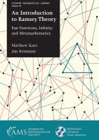 Introduction to Ramsey theory : fast functions, infinity, and metamathematics /