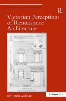 Victorian perceptions of Renaissance architecture