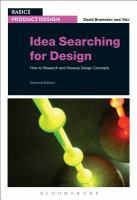 Idea searching for design : how to research and develop design concepts