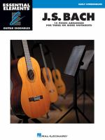 J.S. Bach : 15 pieces arranged for three or more guitarists