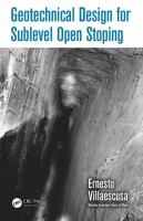 Geotechnical design for sublevel open stoping [electronic resource]