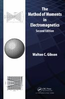 The Method of moments in electromagnetics [electronic resource]