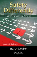 Safety differently [electronic resource] : human factors for a new era
