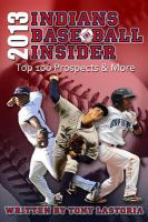 2013 Cleveland Indians baseball insider