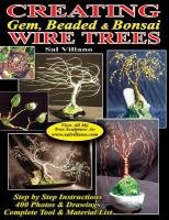 Creating gem, beaded & bonsai wire trees