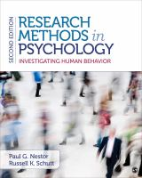 Research methods in psychology : investigating human behavior