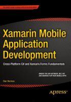 Xamarin Mobile Application Development [electronic resource] : Cross-Platform C# and Xamarin.Forms Fundamentals