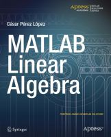 MATLAB linear algebra [electronic resource]