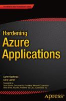 Hardening Azure Applications [electronic resource]