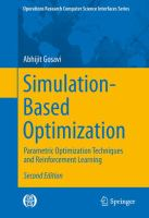 Simulation-Based Optimization [electronic resource] : Parametric Optimization Techniques and Reinforcement Learning