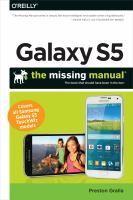 Galaxy S5 : the missing manual : the book that should have been in the box