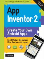 App Inventor 2 : create your own Android apps