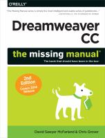 Dreamweaver CC [electronic resource] : the missing manual, the book that should have been in the box