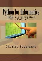 Python for informatics : exploring information