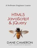 A software engineer learns HTML5, JavaScript & jQuery