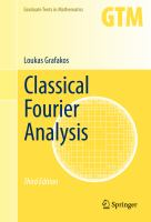 Classical Fourier Analysis [electronic resource]