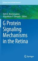 G protein signaling mechanisms in the retina [electronic resource]