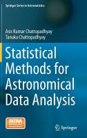 Statistical methods for astronomical data analysis [electronic resource]