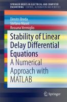 Stability of Linear Delay Differential Equations [electronic resource] : A Numerical Approach with MATLAB