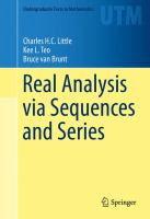 Real Analysis via Sequences and Series [electronic resource]
