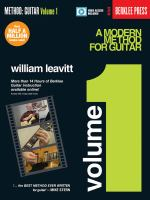A modern method for guitar. Volume 1