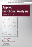 Applied functional analysis /
