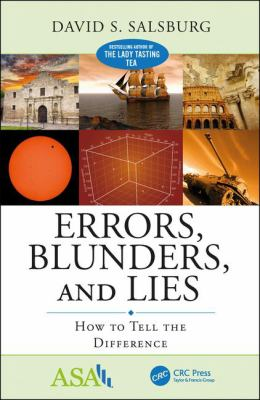 Book cover for Errors, blunders, and lies : how to tell the difference / by David S. Salsburg