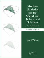 Modern statistics for the social and behavioral sciences : a practical introduction /