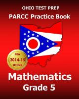 Ohio Test Prep Parcc Practice Book Mathematics Grade 5: Covers the Performance-Based Assessment (Pba) and the End-Of-Year Assessment (Eoy)