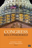 Congress reconsidered /