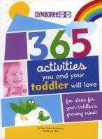 book cover image of 365 activities you and your toddler will love
