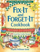 Fix-it and forget-it. Cookbook : 700 great slow cooker recipes