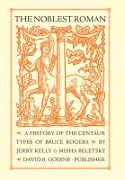 a history of the Centaur Types of Bruce Rogers