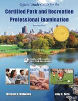 Official study guide for the certified park and recreation professional examination