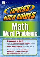 Express review guides. Math word problems.