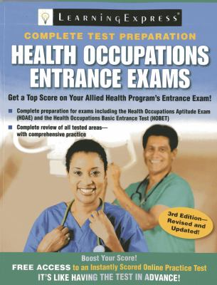 Book cover for Health occupations entrance exams : the core review you need to succeed