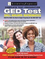 GED test skill builder : math.