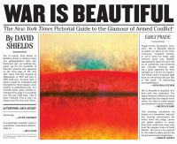 War is beautiful : the New York Times pictorial guide to the glamour of armed conflict*