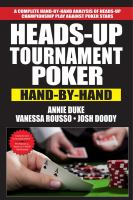 Heads-up tournament poker : hand-by-hand