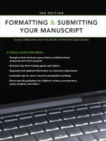 Formatting & submitting your manuscript