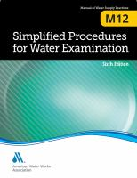 Simplified procedures for water examination [electronic resource]