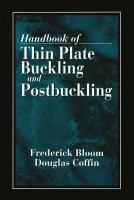 Handbook of Thin Plate Buckling and Postbuckling [electronic resource]