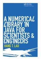 A Numerical Library in Java for Scientists and Engineers [electronic resource]