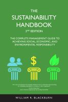 The sustainability handbook : the complete management guide to achieving social, economic, and environmental responsibility