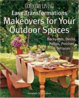 Makeovers for your Outdoor Spaces