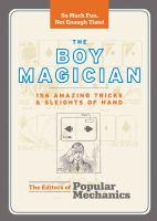 book cover image for The Boy Magician: 156 Amazing Tricks &amp; Sleights of Hand .