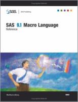 SAS(R) 9. 1 Macro Language [electronic resource]: Reference